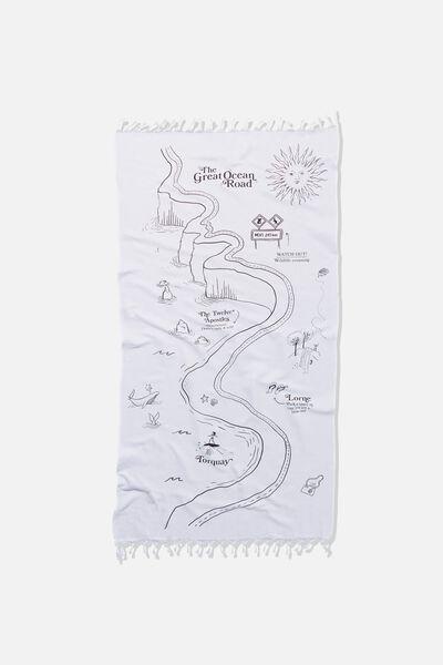 Coogee Lightweight Towel, GREAT OCEAN ROAD MAP