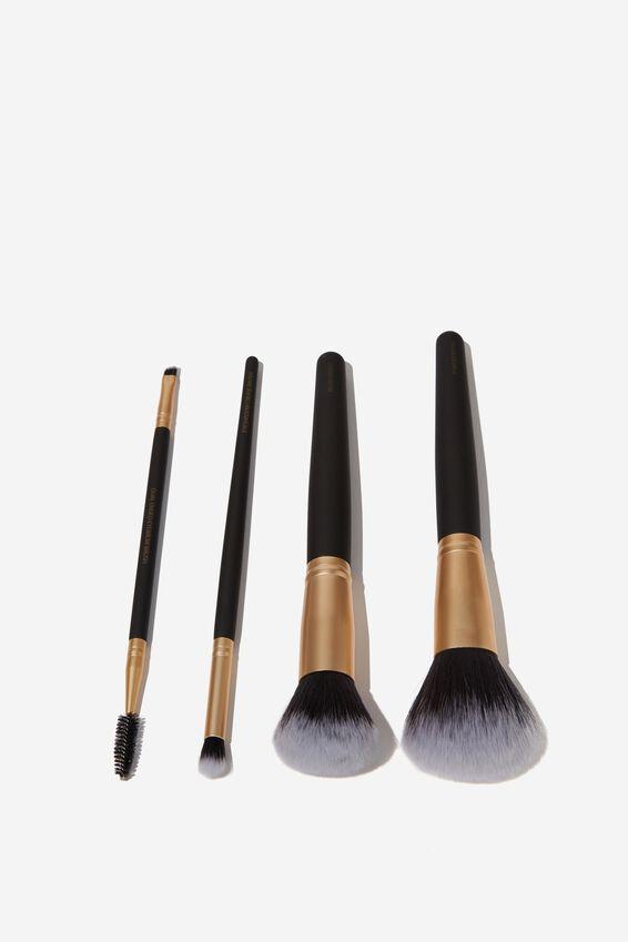 Eyeshadow Brush, BLACK/GOLD