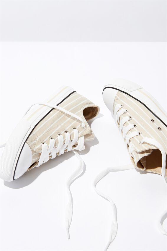 Jodi Low Rise Sneaker 1, CAMEL STRIPE