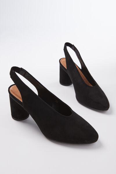 Cha Cha Slingback Heel, BLACK