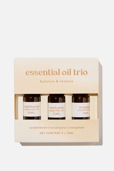 Essential Oil 3 Pack, BALANCE & RESTORE