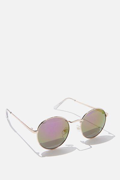 Emmi Metal Frame Sunglasses, PURPLE REVO