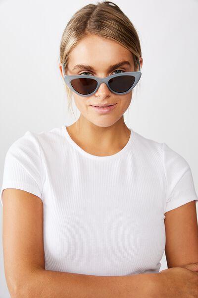Narrah Short Frame Cateye Sunglasses, MILKY BLUE