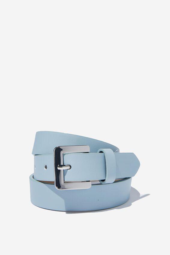 Square Buckle Belt, DUSK BLUE/SILVER