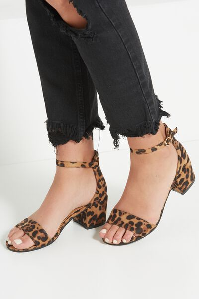 Ivy Low Block Heel, NATURAL LEOPARD/GOLD