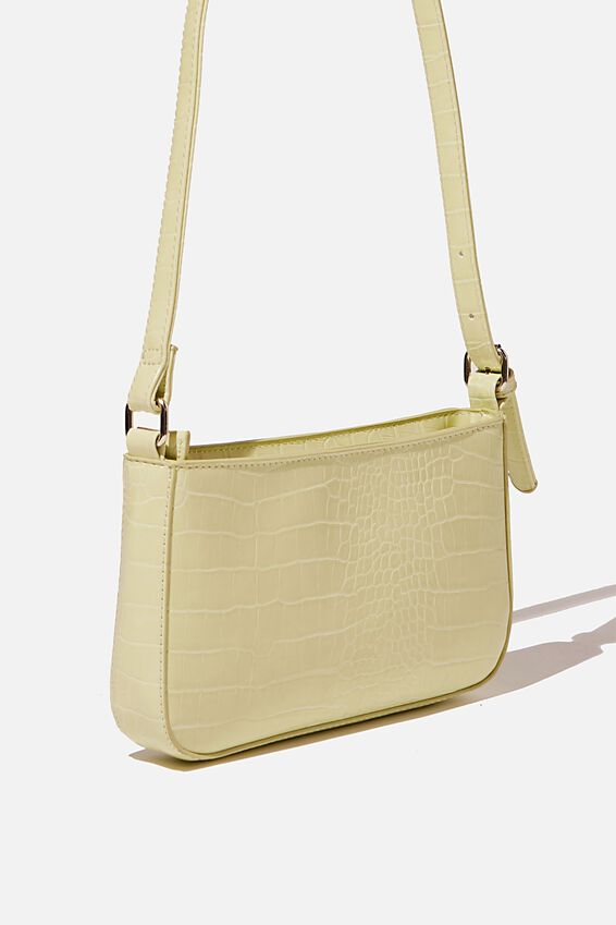 Lexi Underarm Bag, FRESH LIME TEXTURE