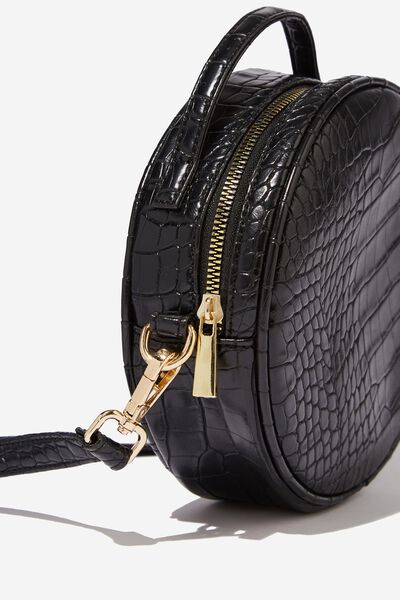 See You Around Cross Body Bag, BLACK