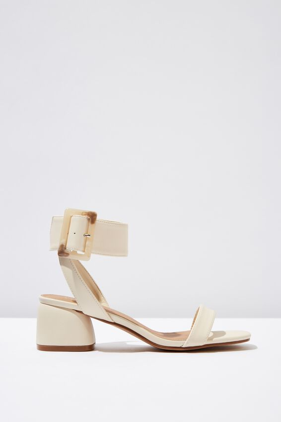 Belle Buckle Sandal, OAT PU