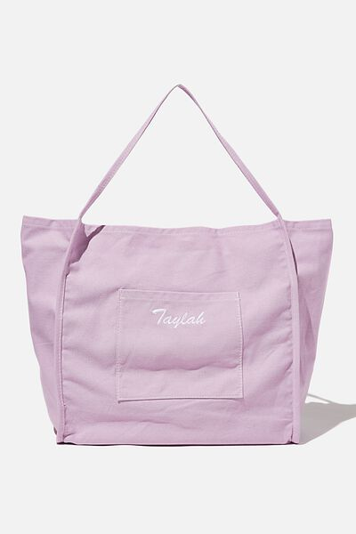 Personalised Amelia Tote, FROSTY LILAC