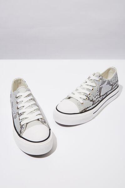 Platform Jodi Low Rise Sneaker, GREY TEXTURE