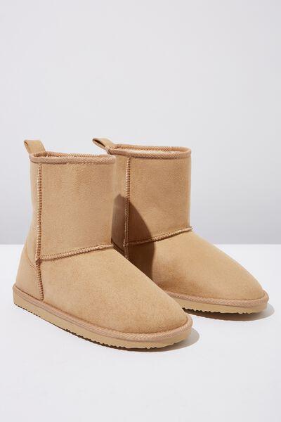 Short Home Boot, HONEY TAN