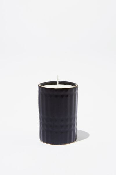 Body Embossed Candle, BLACK