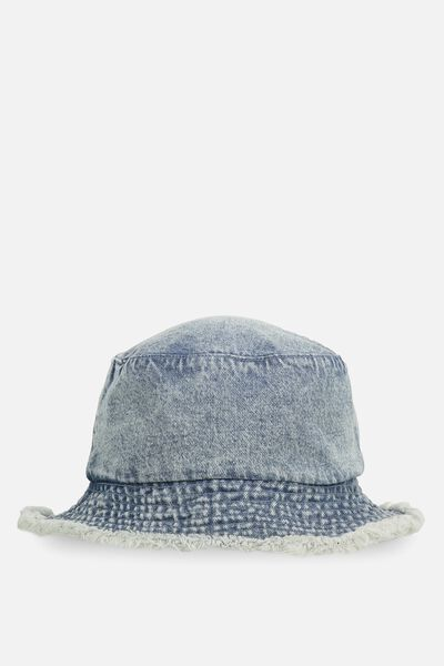 Bella Bucket Hat, MID DENIM
