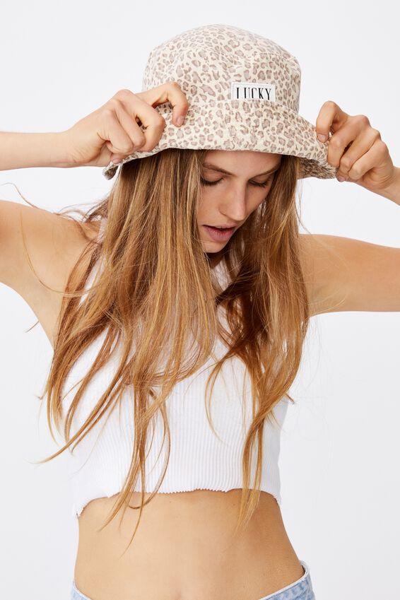 Bianca Bucket Hat, LEOPARD/LUCKY