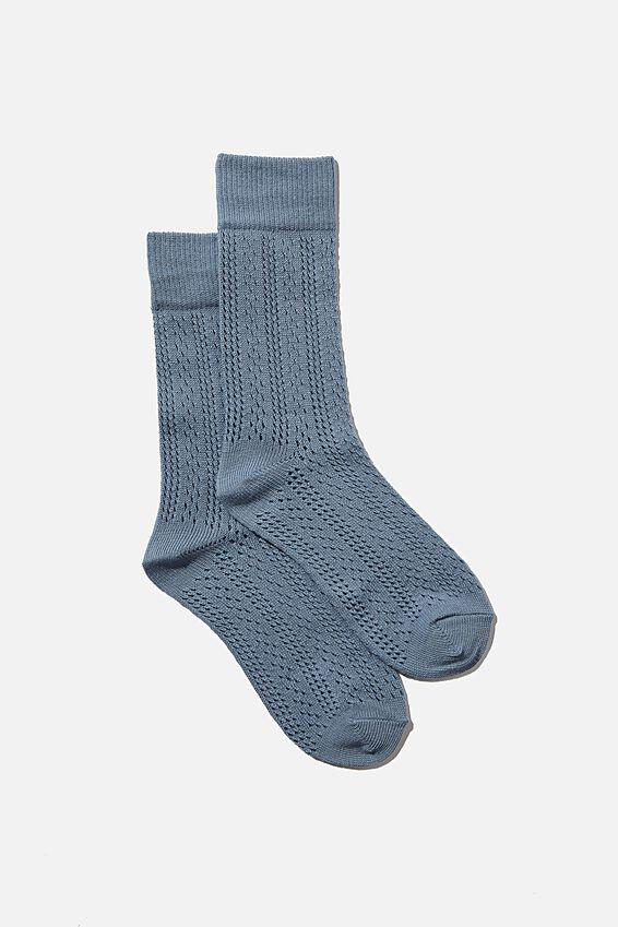 Heritage Knit Sock, SKY BLUE