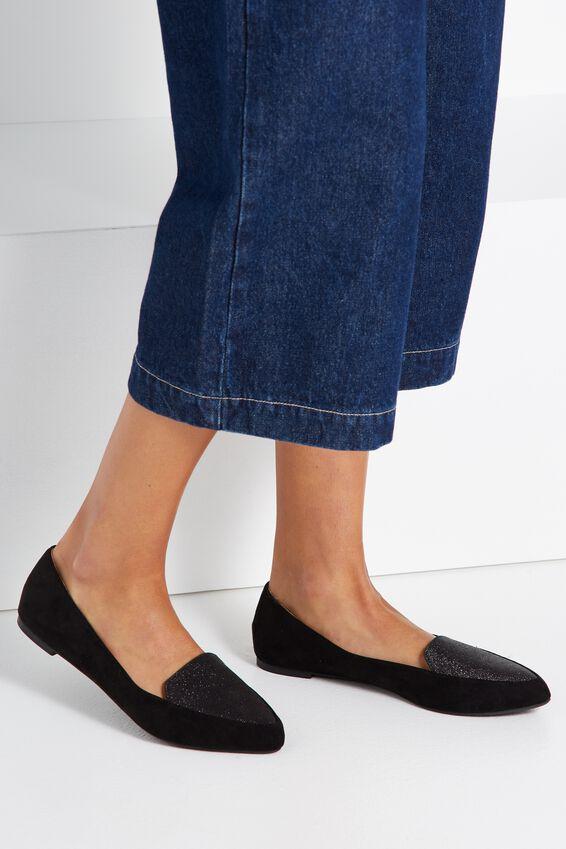 Peta Point Loafer, BLACK GLITTER MULTI