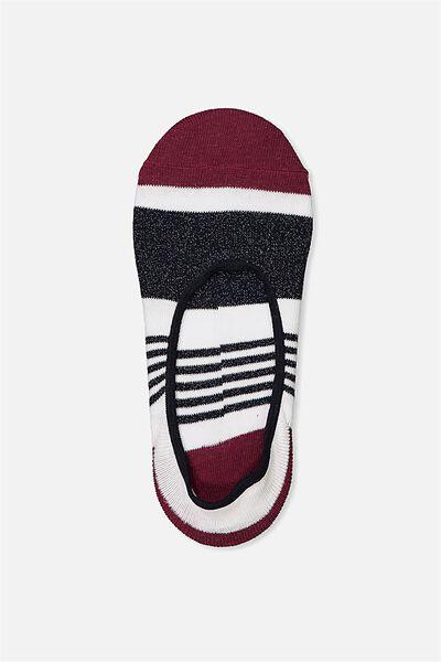 Sneaker Low Cut Sock, STRIPE COLOUR BLOCK