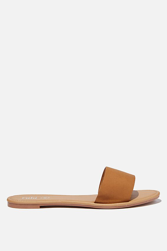 Everyday Zahra Slide, TAN NUBUCK