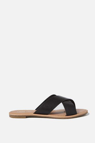 Everyday Scarlett Xover Slide, BLACK