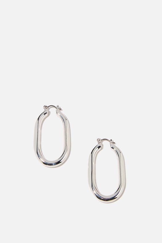 Luxe Layers Hoop, SILVER OBLONG