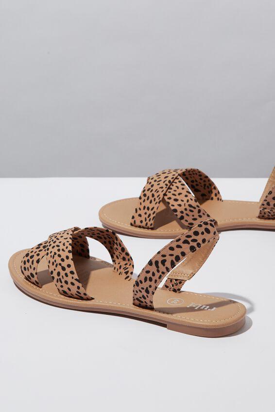 Everyday Banting Crossover Sandal, NEUTRAL CHEETAH PRINT