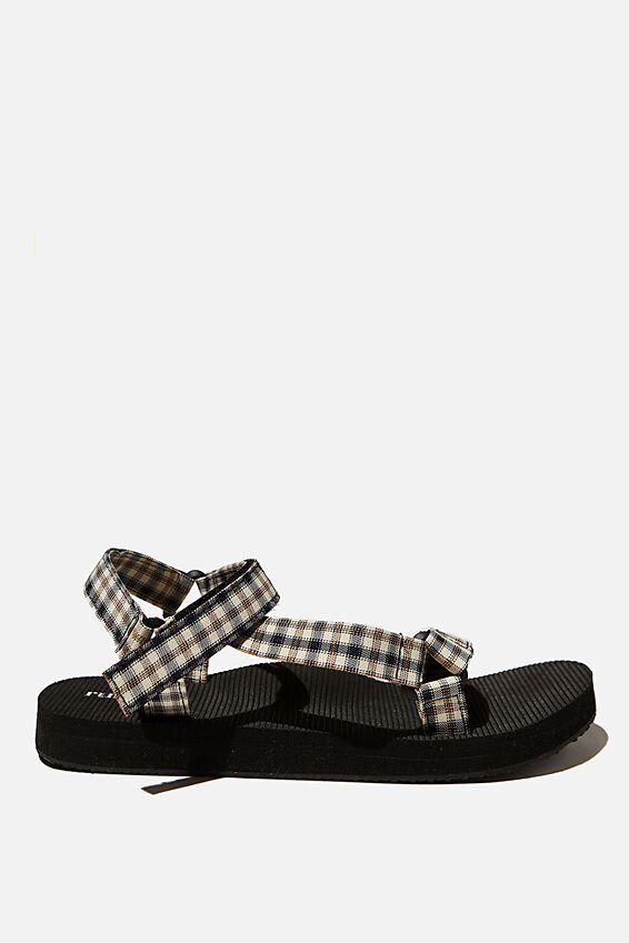 Stormy Sporty Sandal, NEUTRAL CHECK