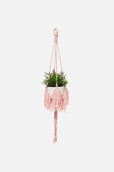 Sml Fringed Hanger, PINK