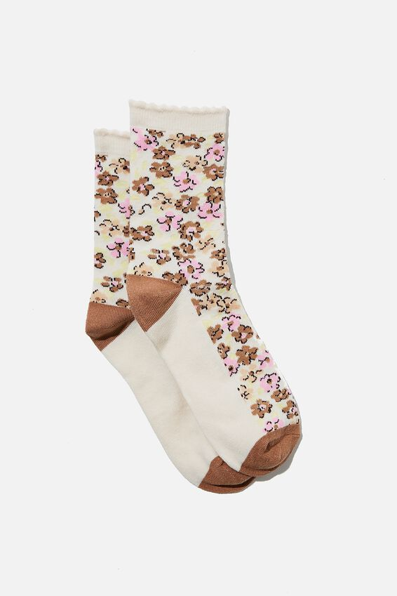 Carrie Crew Sock, BARLEY KENDELL DITSY FLORAL