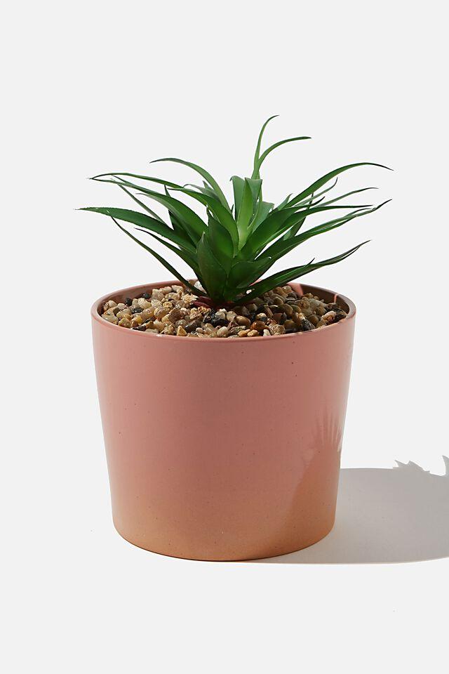 Large Planter, CORAL GLAZE