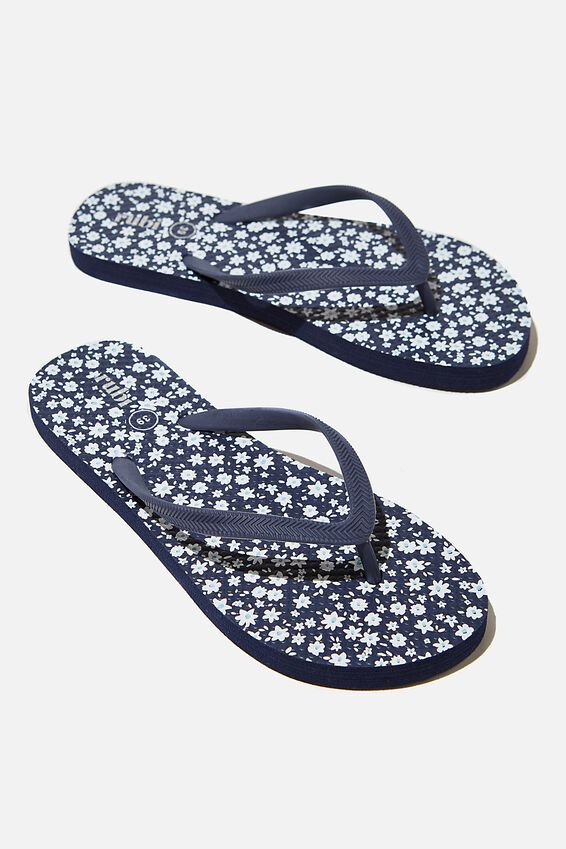 The Rubi Flip Flop, DITSY FLORAL NAVY