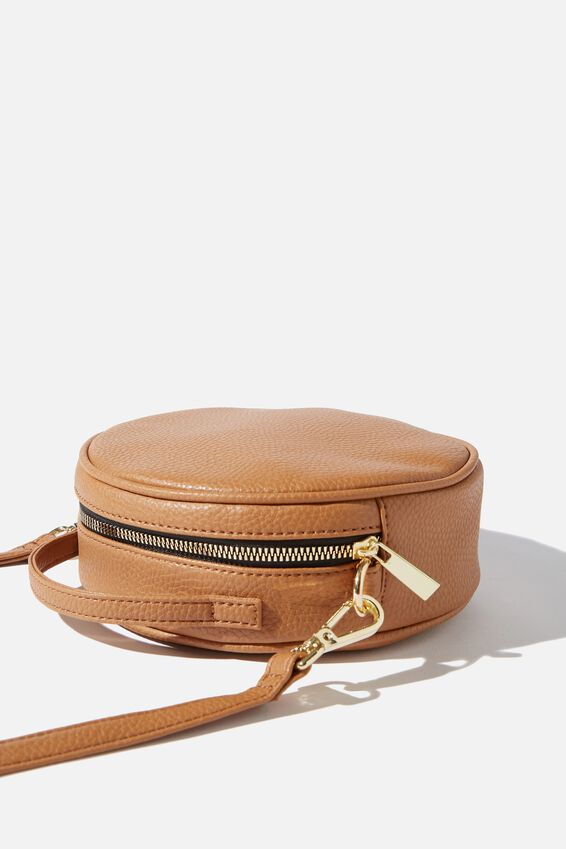 See You Around Cross Body Bag, TAN PEBBLE