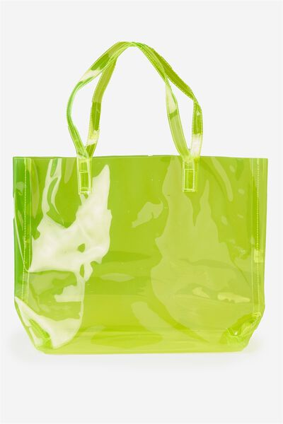 Crystal Clear Tote, LIME