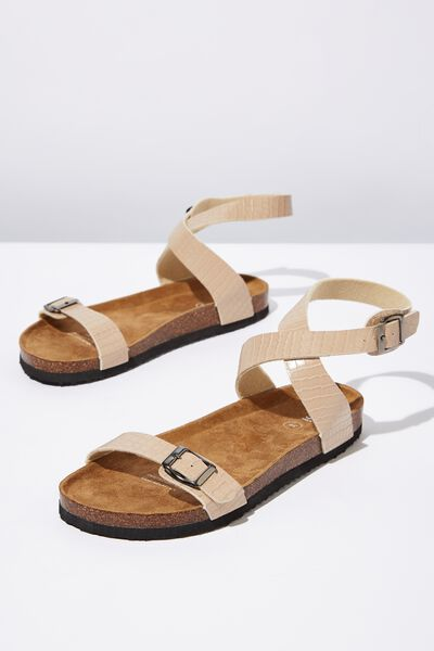 Rex Ankle Strap, TAUPE PU