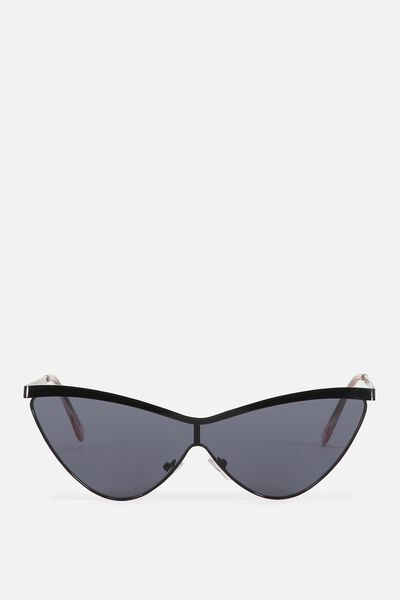 Verona Cat Eye Sunglasses, BLACK