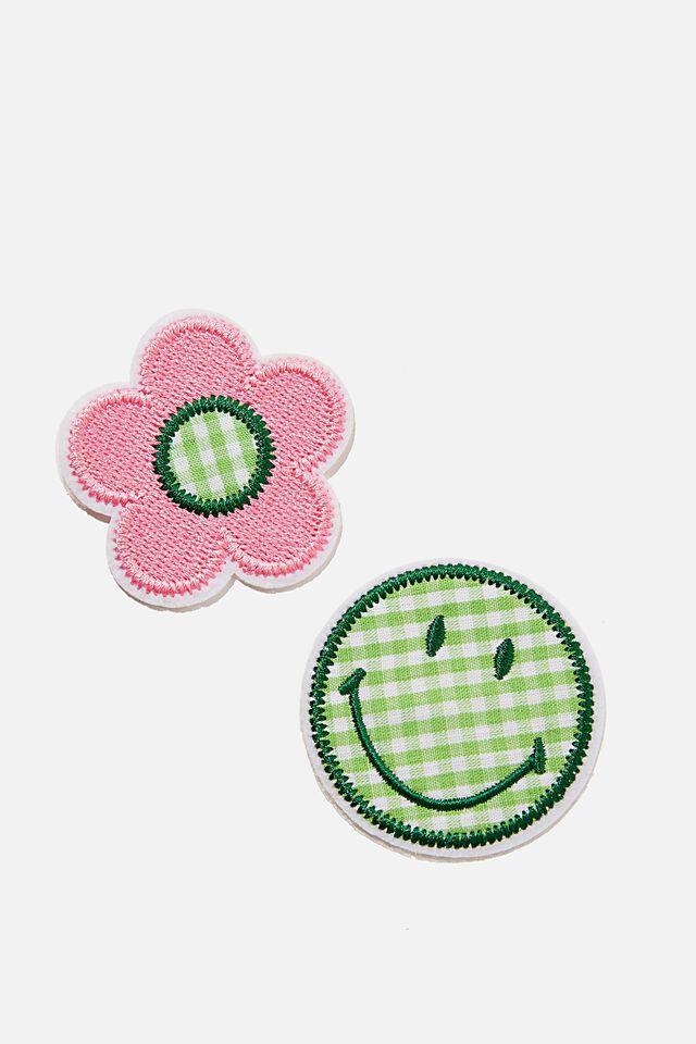 Smiley Daisy Patch, LCN SMILEY GREEN DAISY