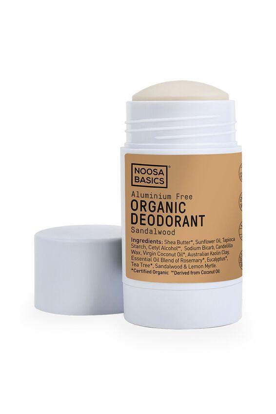 Noosa Basics Deodorant Stick Full Strength, SANDALWOOD