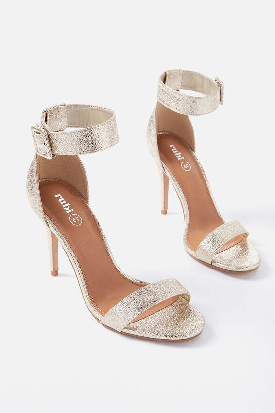 Spritz Stiletto Heel, GOLD METALLIC