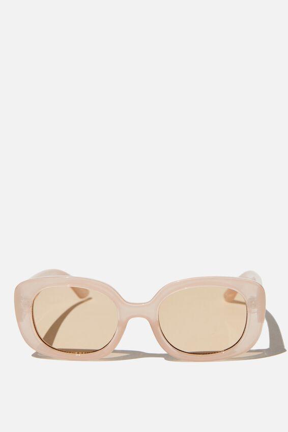 Jade Square Sunglasses, SUNSET PINK