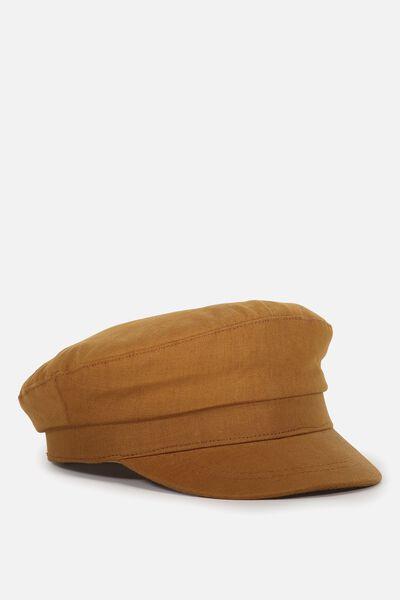 Bailey Baker Boy Cap, TAN WOVEN