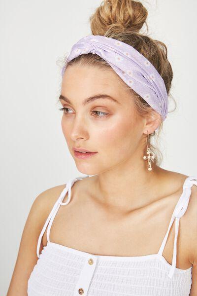 Manhattan Headband, AURORA DAISY LILAC