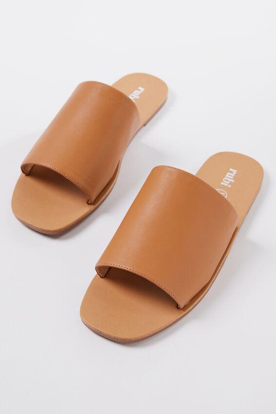 Cleo Minimal Slide, CAMEL PU