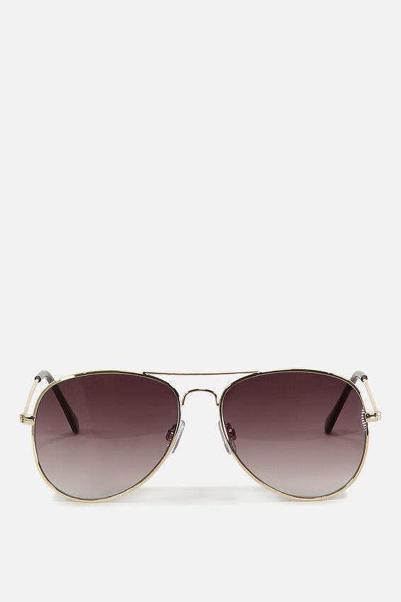 Arabella Metal Sunglasses, GOLD GREY