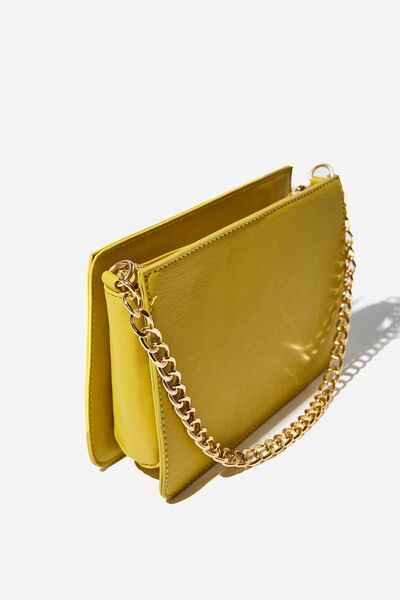 In Chains Cross Body Bag, CHARTRUSSE