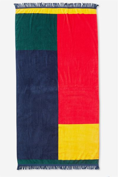 Love A Classic Towel, MULTI COLOUR BLOCK