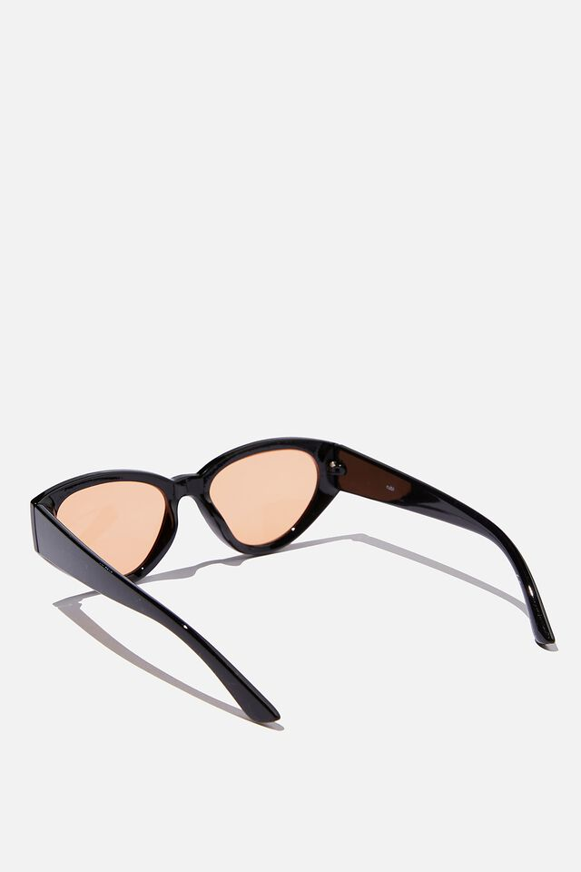 Taylor Cateye Sunglasses, BLACK/ROSE