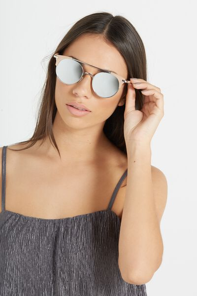 Florence Top Bar Sunglasses, M.MILKY DESERT PALM