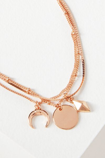 Ophelia Layer Bracelet, ROSE GOLD