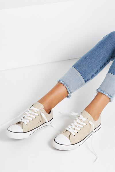 Jodi Low Rise Sneaker 1, CHAMPAGNE SPARKLE
