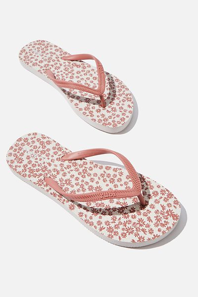 Rubi Thong, DUSTY PINK DITSY FLORAL
