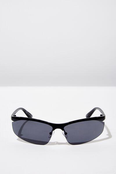 Kiki Sports Wrap Sunglass, BLACK/BLACK